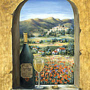 Wine And Poppies Art Print by Marilyn Dunlap