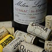 Wine And Wine Corks Print by Paul Ward