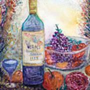 Wine Bottle Selection  Art Print by Anais DelaVega