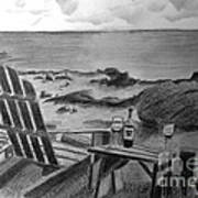 Wine By The Sea Art Print
