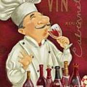 Wine Chef I Art Print