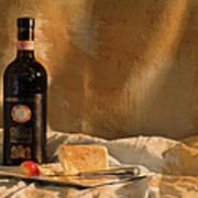 Wine Cherries And Cheese Art Print