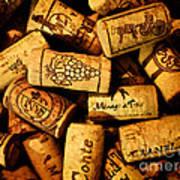 Wine Corks - Art Version Art Print