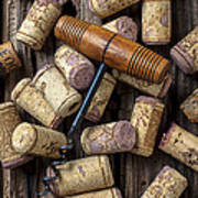Wine Corks Celebration Art Print