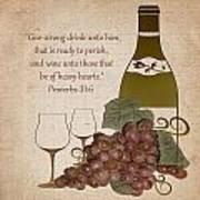 Wine For The Heart Art Print