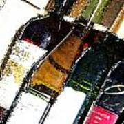 Wine In A Row Art Print