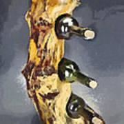 Wine Rack A Piece Of Wood Art Print