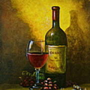 Wine Shadow Ombra Di Vino Art Print