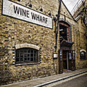 Wine Wharf Art Print by Heather Applegate