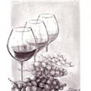 Wine Wine Wine Art Print
