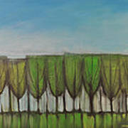 Wineglass Treeline Art Print