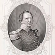 Winfield Scott 1786-1866 From The History Of The United States, Vol. II, By Charles Mackay Art Print