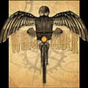 Winged Rider Art Print