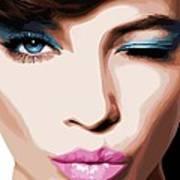 Wink - Pretty Faces Series Art Print