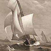 Winning Yacht 1885 Art Print