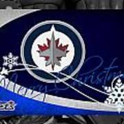 Winnipeg Jets Christmas Art Print