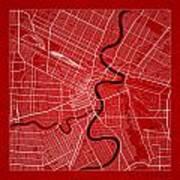 Winnipeg Street Map - Winnipeg Canada Road Map Art On Color Art Print