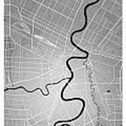 Winnipeg Street Map - Winnipeg Canada Road Map Art On Colored Ba Art Print