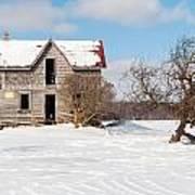 Winter Abandoned Farmouse Art Print