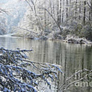 Winter Along Williams River Art Print by Thomas R Fletcher