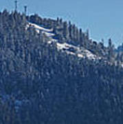Winter And Mt Baldy Panorama Art Print