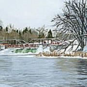 Winter At Phelps Mill Art Print