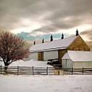Winter At Piper Barn Anteitam National Battleground Art Print