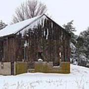 Winter At The Barn Art Print