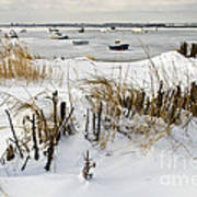Winter At The Beach 2 Art Print