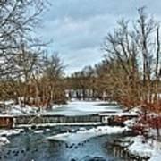 Winter At The Mattabeset River Art Print