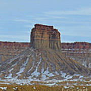 Winter Banded Butte Art Print
