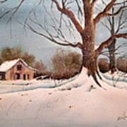 Winter Barn # 5 Art Print