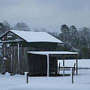 Winter Barn Art Print by Nelson Watkins