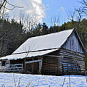 Winter Barn Art Print by Susan Leggett