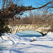 Winter Bridge Art Print