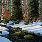 Winter Brook Art Print