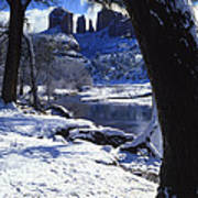 Winter Cathedral Rock Art Print