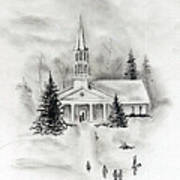 Winter Church Art Print