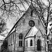 Winter Church Art Print