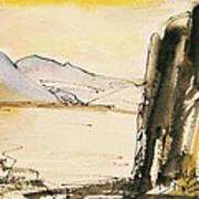 Winter Cliff Art Print