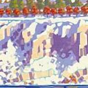 Winter Cliffs Art Print