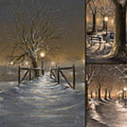 Winter Collage Art Print