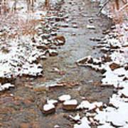 Winter Creek Scenic View Art Print