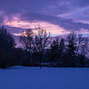 Winter Evening In Grants Pass Art Print