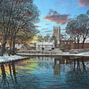Winter Evening Tickhill Yorkshire Art Print