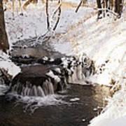 Winter Falls On Big Stone Lake  Art Print