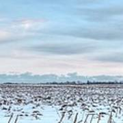 Winter Farm Field Art Print