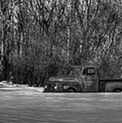 Winter Ford Truck 1 Art Print by Thomas Young