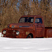 Winter Ford Truck 3 Art Print