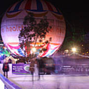Winter Gardens Ice Rink And Balloon Bournemouth Art Print